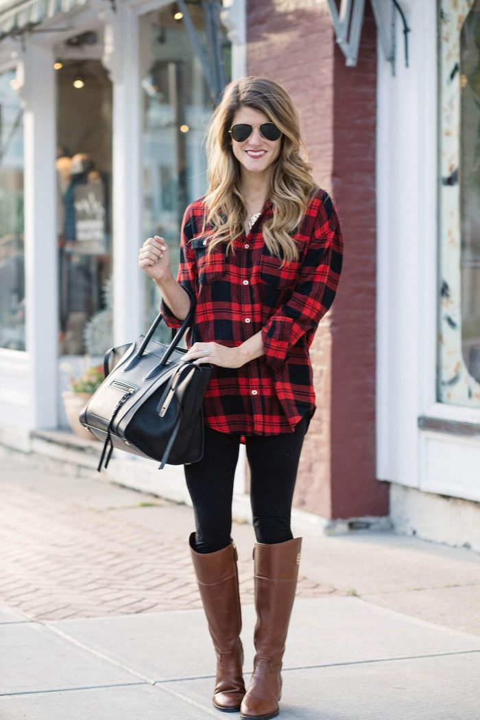 Plaid Shirts For Women Simple Street Style Looks (22)