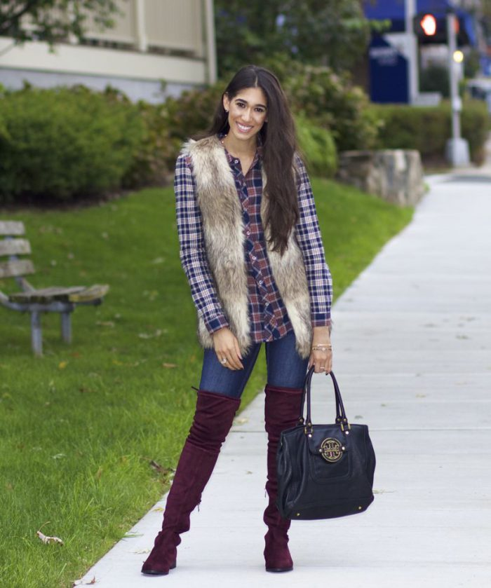 Plaid Shirts For Women Simple Street Style Looks (23)