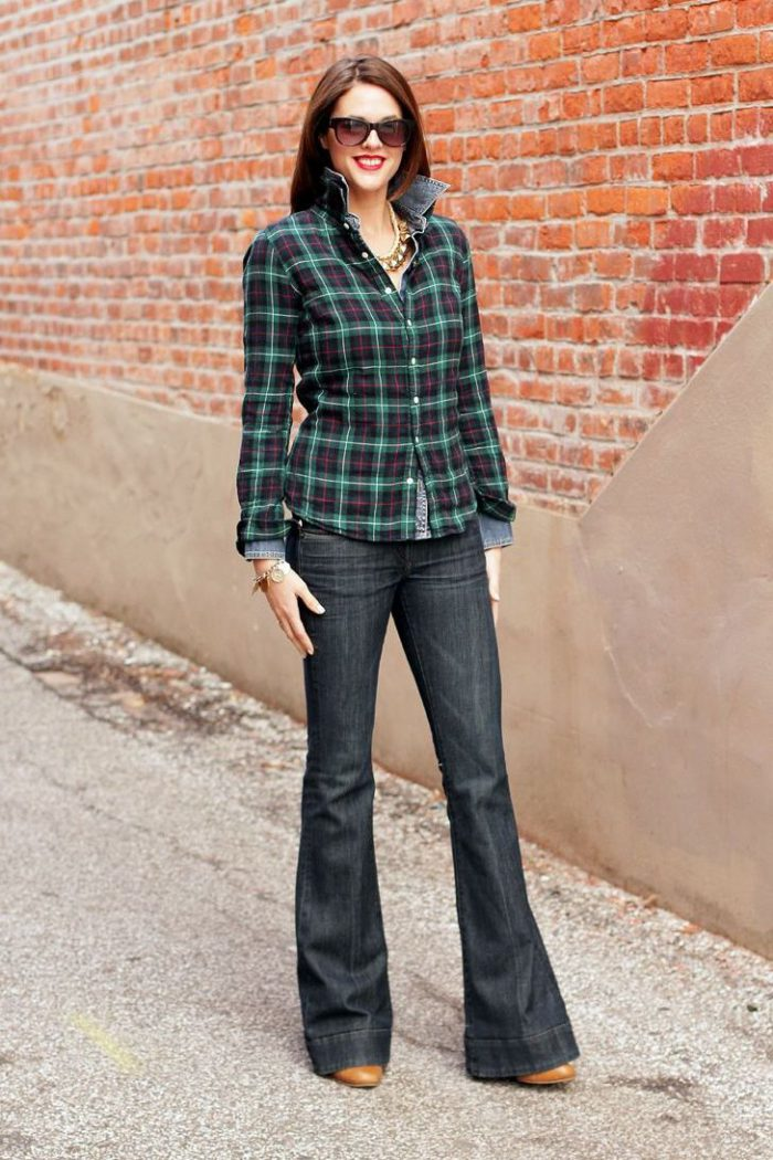 Plaid Shirts For Women Simple Street Style Looks (8)