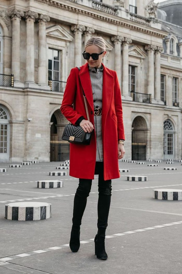 Women Red Coats Best Ways To Wear 2019