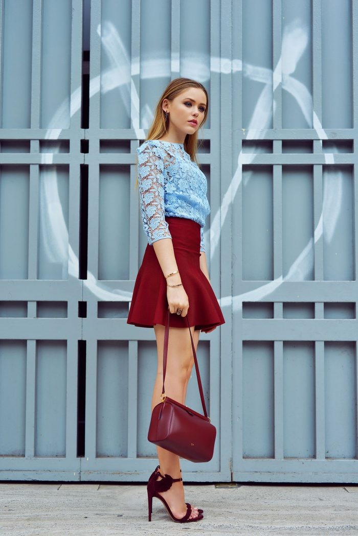 Red Skirts Inspiring Street Style Looks (1)