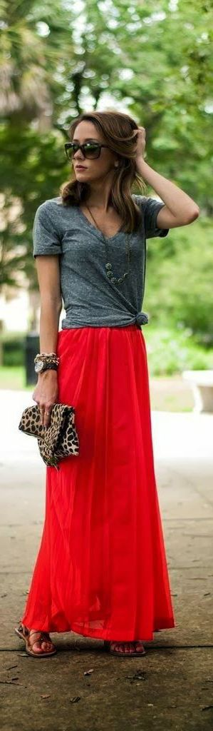 What Tops And Shoes To Wear with Long Skirts 2020