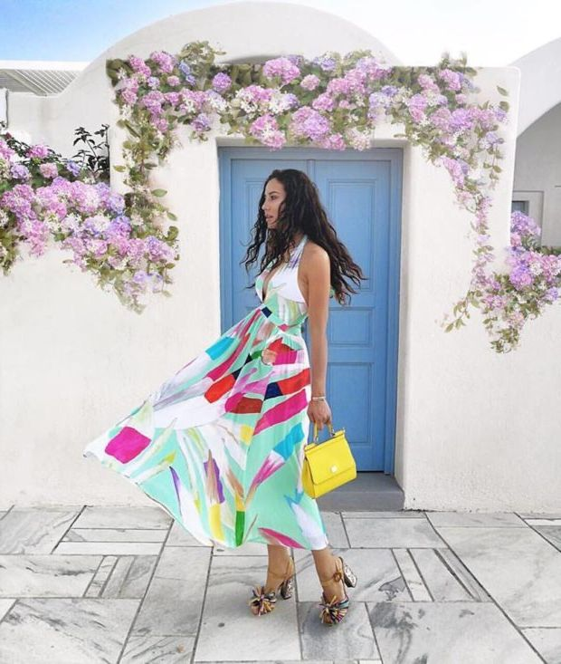 What Shoes can I Wear with a Maxi Dress Street Style (11)