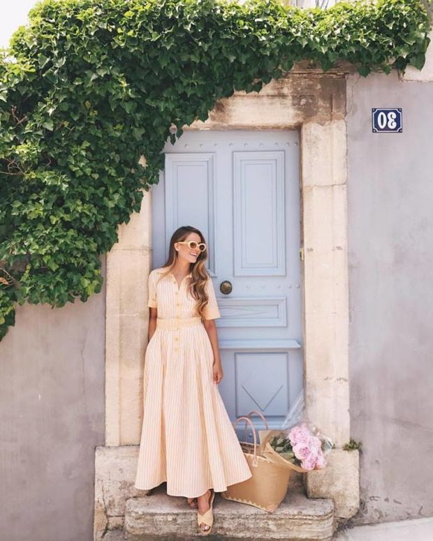 What Shoes can I Wear with a Maxi Dress Street Style (12)