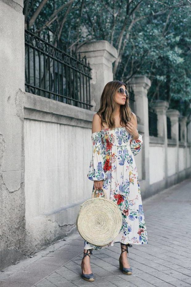 What Shoes can I Wear with a Maxi Dress Street Style (14)