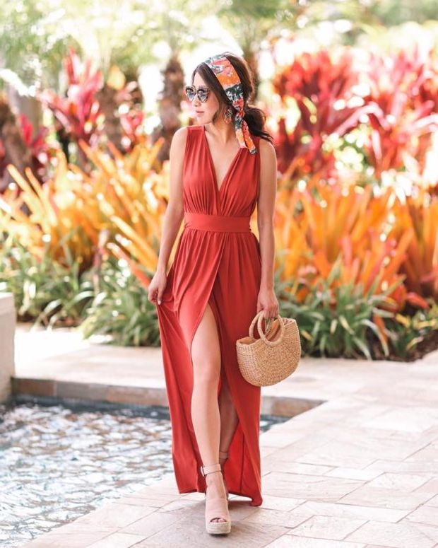 What Shoes can I Wear with a Maxi Dress Street Style (15)