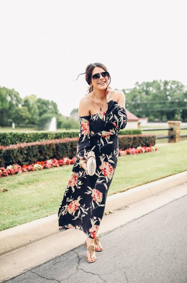 What Shoes can I Wear with a Maxi Dress Street Style (16)