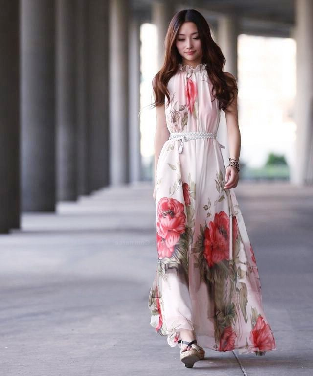 What Shoes can I Wear with a Maxi Dress Street Style (18)