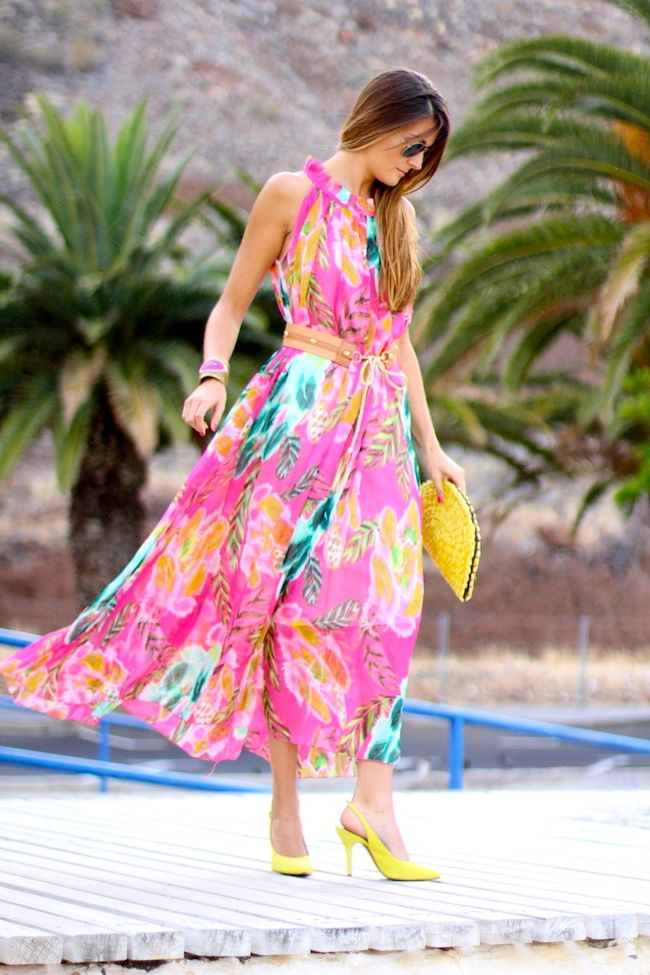 What Shoes can I Wear with a Maxi Dress Street Style (22)