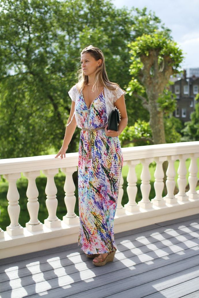 What Shoes can I Wear with a Maxi Dress Street Style (23)