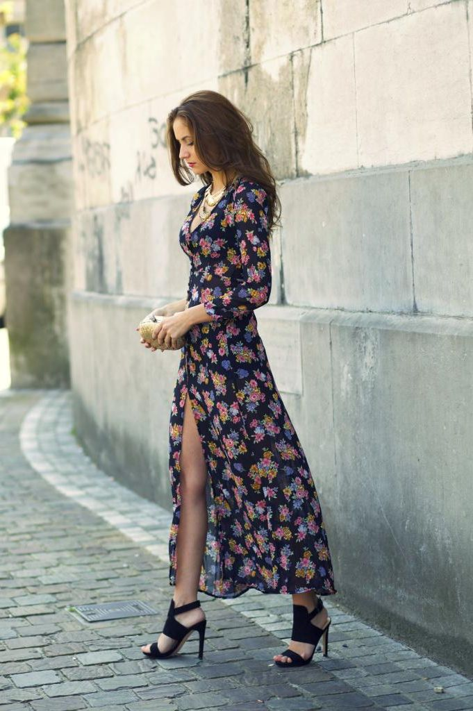 What Shoes can I Wear with a Maxi Dress Street Style (27)