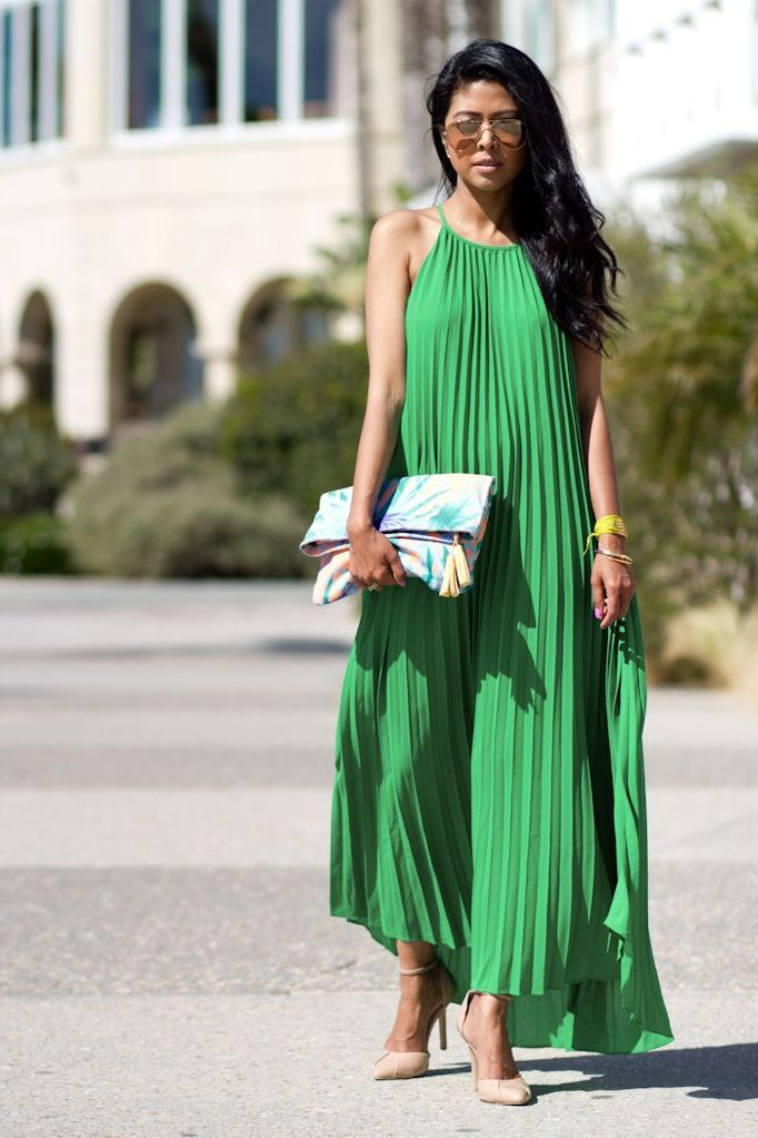 What Shoes can I Wear with a Maxi Dress Street Style (29)