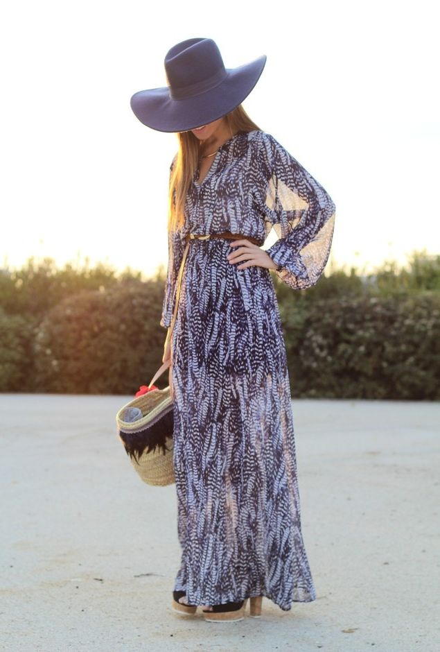 What Shoes can I Wear with a Maxi Dress Street Style (30)