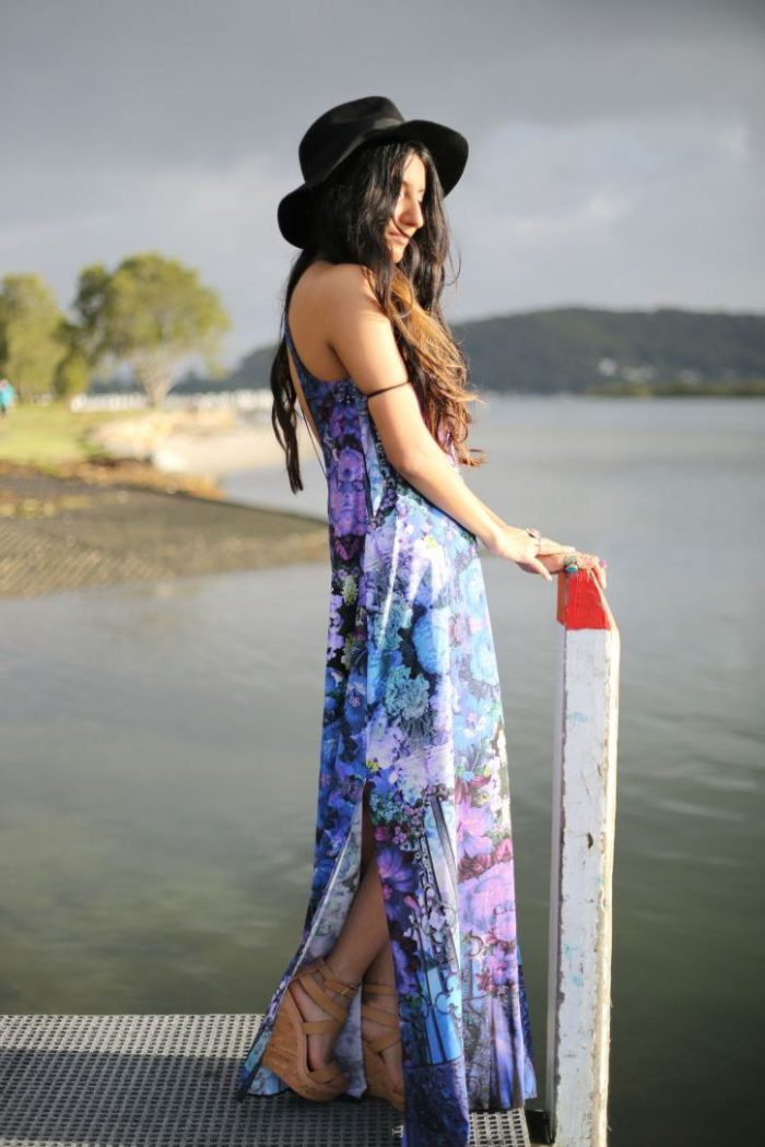 What Shoes can I Wear with a Maxi Dress Street Style (38)