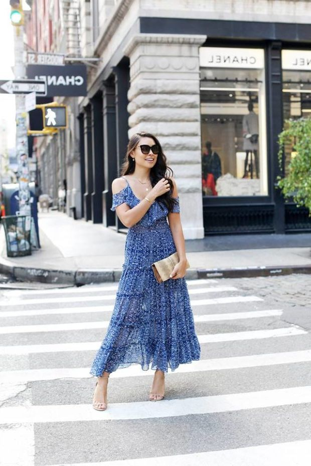 What Shoes can I Wear with a Maxi Dress Street Style (4)