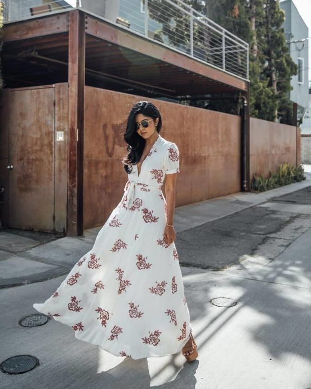 What Shoes can I Wear with a Maxi Dress Street Style (7)