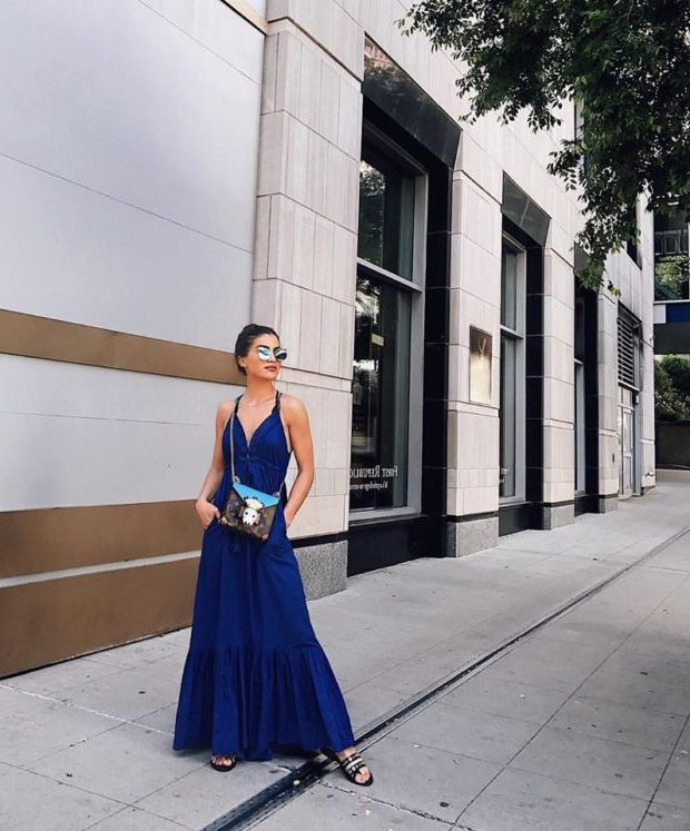 What Shoes can I Wear with a Maxi Dress Street Style (9)