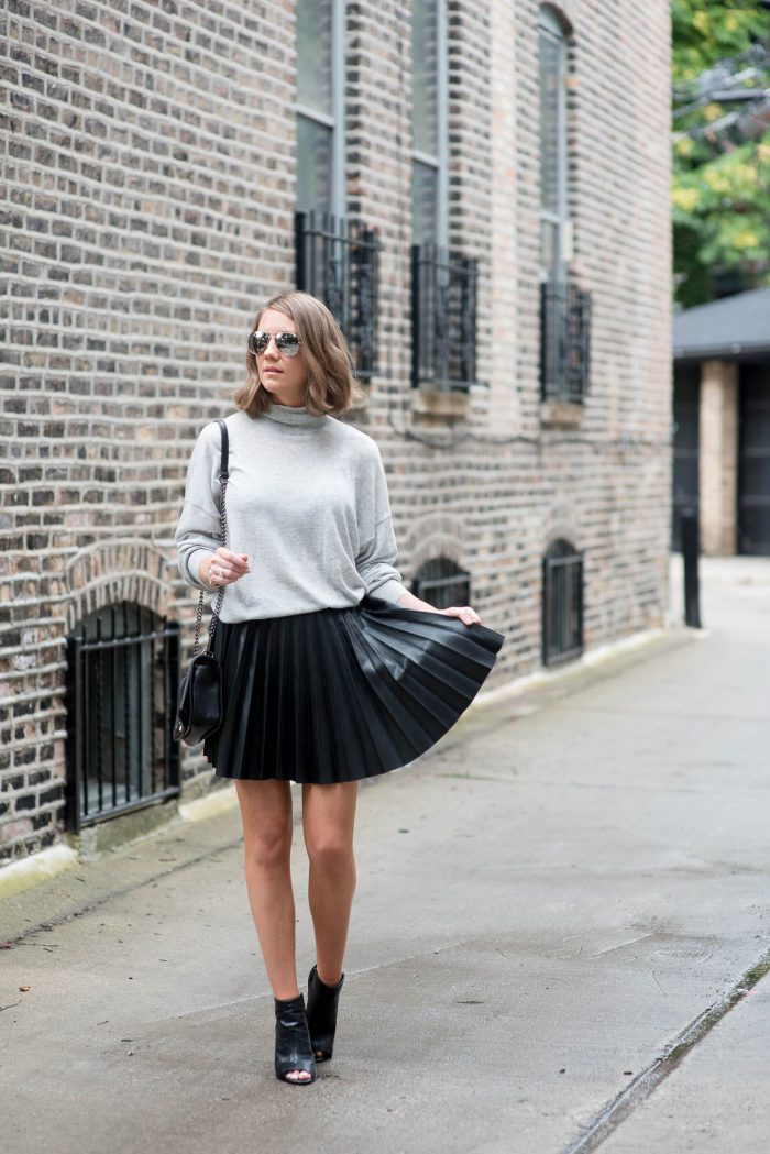 42 Inspiring Black Leather Skirts 2019