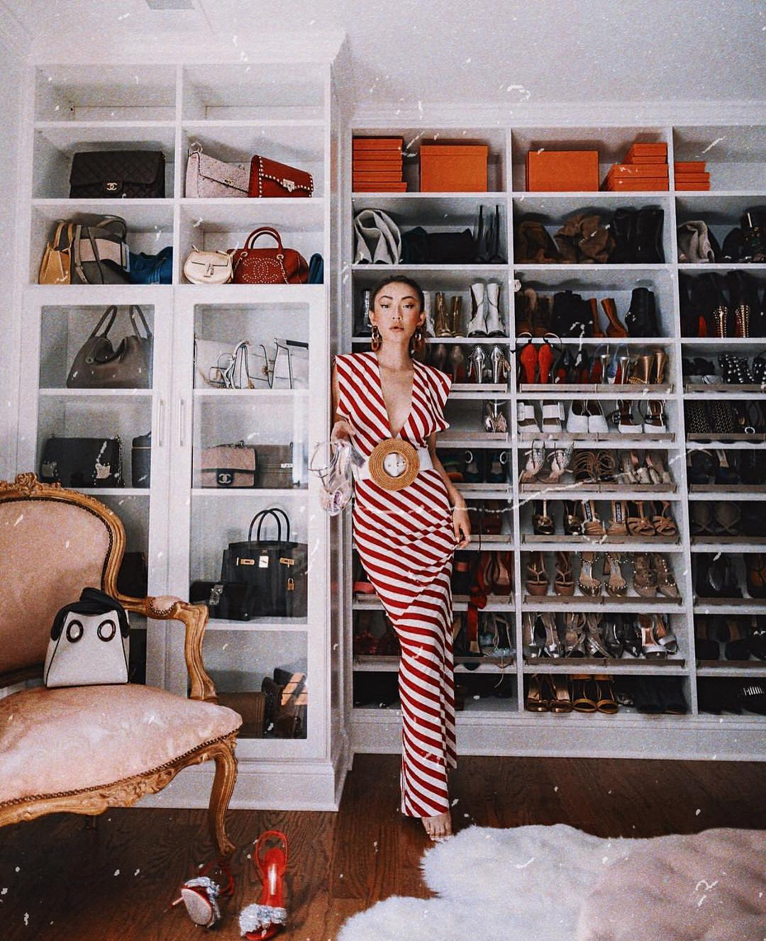 Maxi Dress In Red-White Stripes For Summer 2019