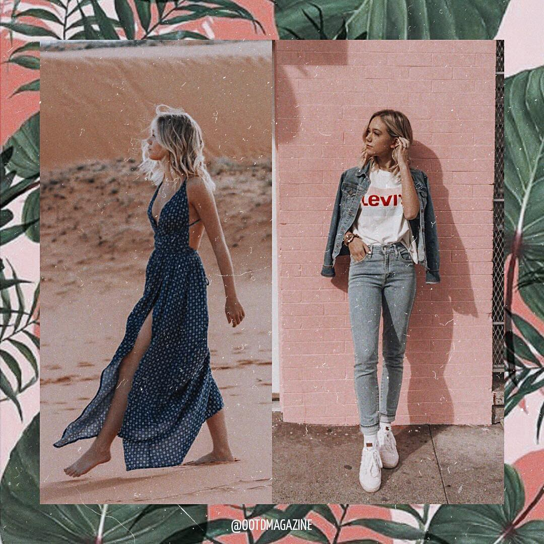 Double Denim Or Maxi Dress For Summer Days 2019
