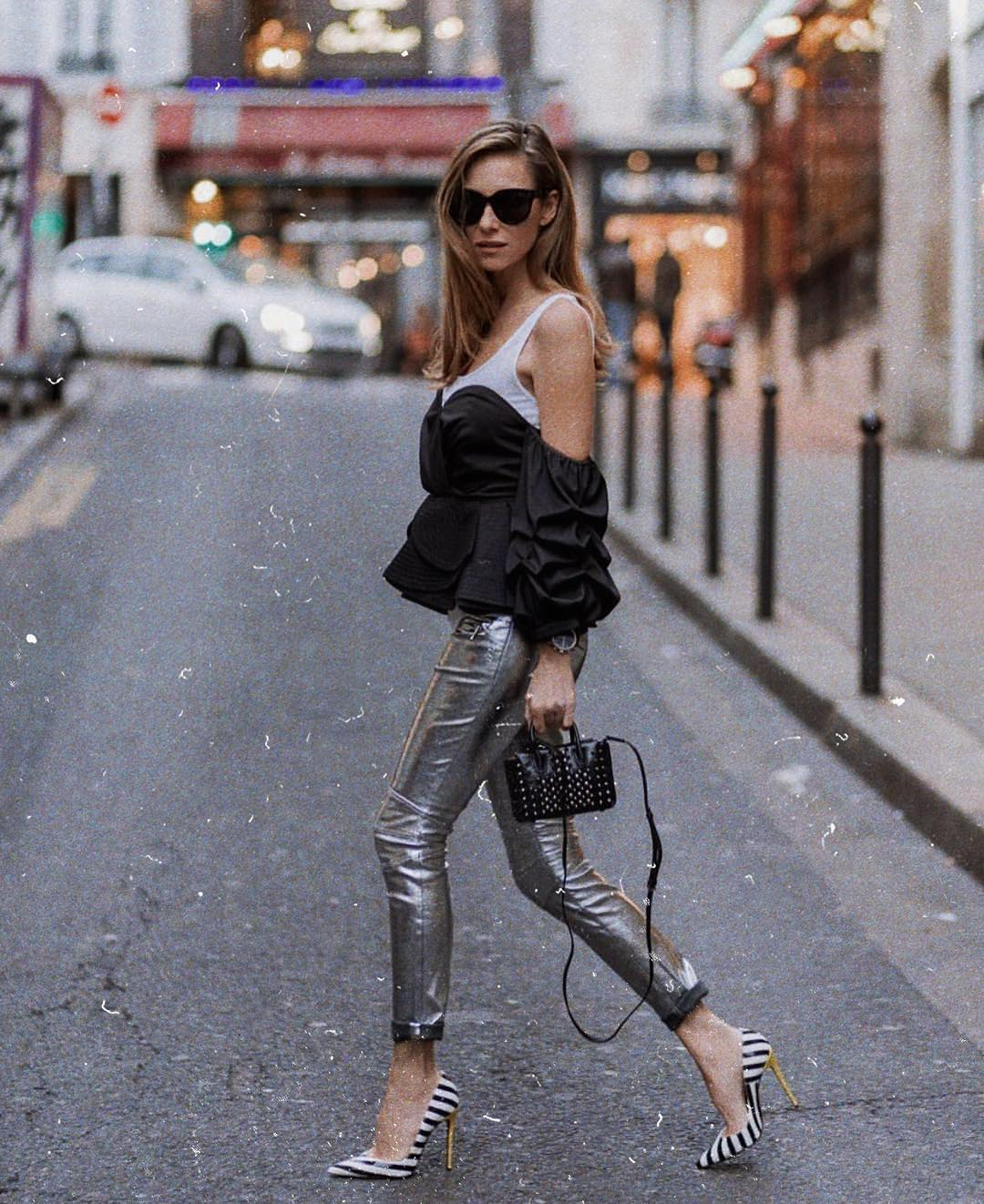 Metallic Silver Pants For Summer 2019