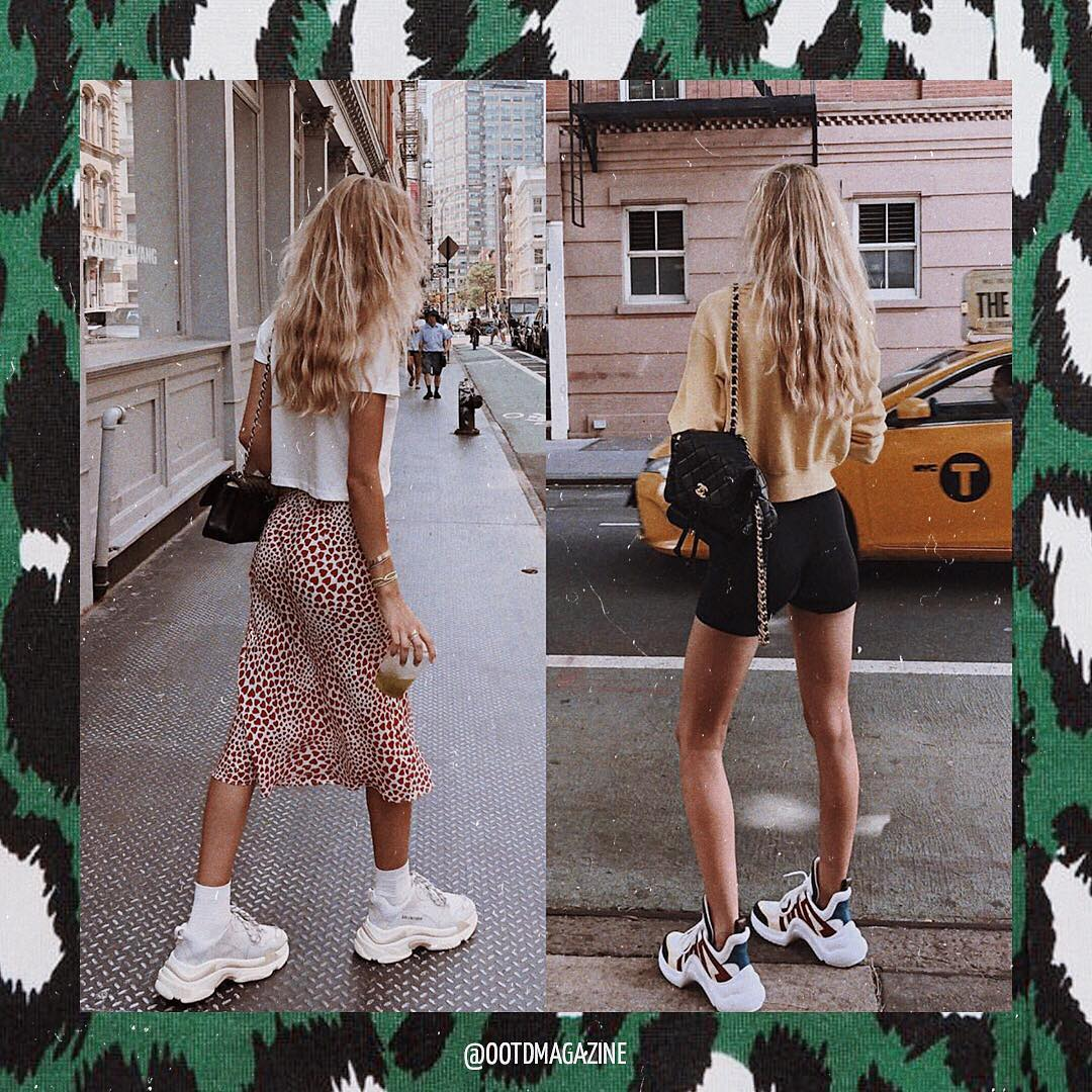 Best Casual Ways To Wear White Chunky Sneakers This Summer 2020