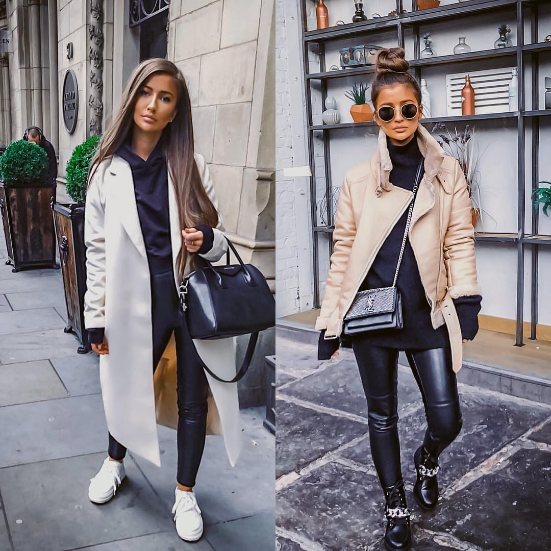 It Girl Essentials For Winter: Statement Outerwear And Leather Pants 2019