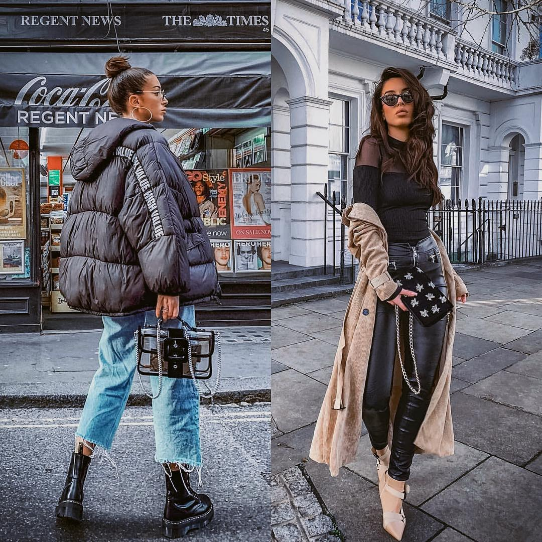 Urban Casual Or Urban Glamour: Oversized Puffer Jacket Or Suede Coat For Fall 2019
