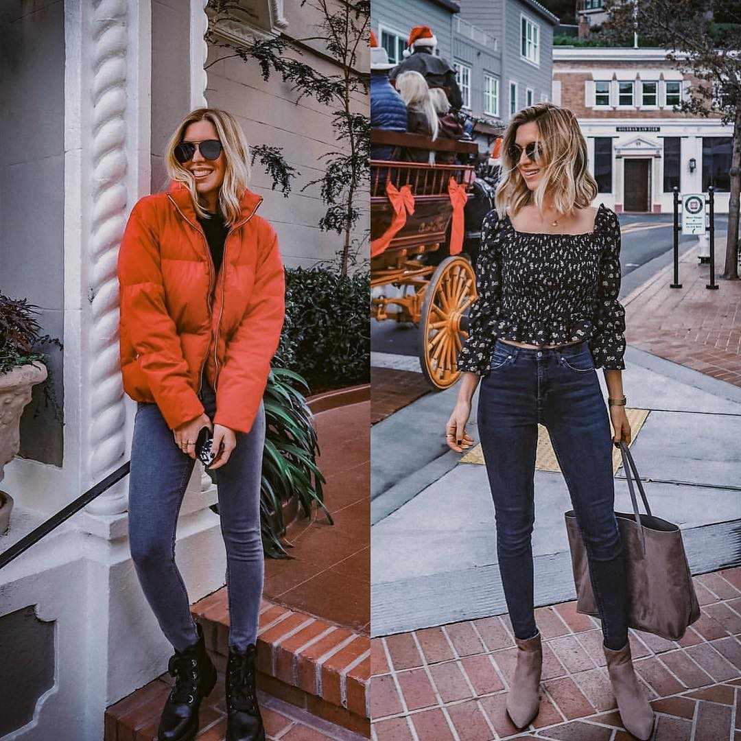 Fall Essentials: Down Jacket, Denim And Ankle Boots 2021