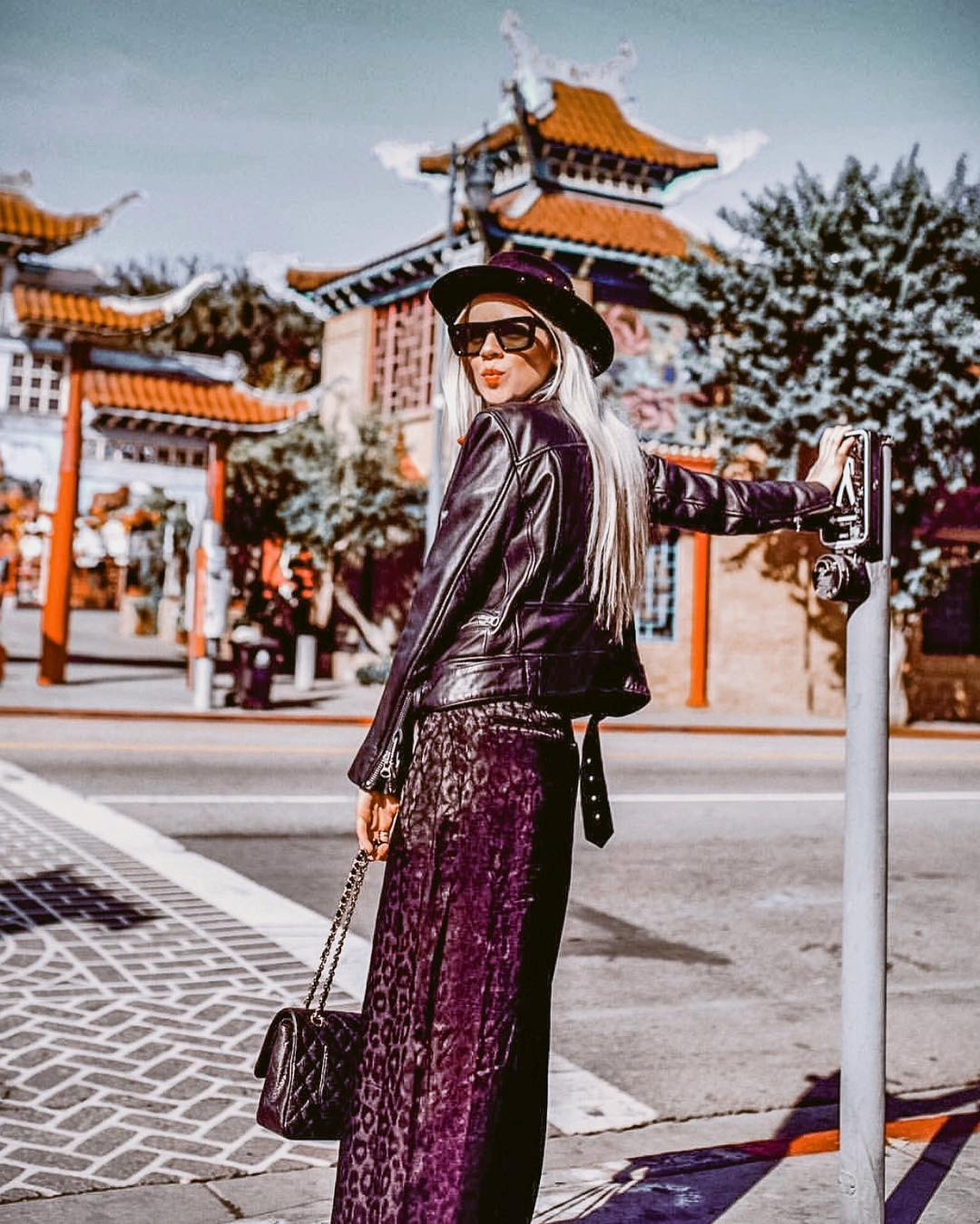 Bohemian Fall OOTD: Maxi Skirt And Leather Jacket 2019