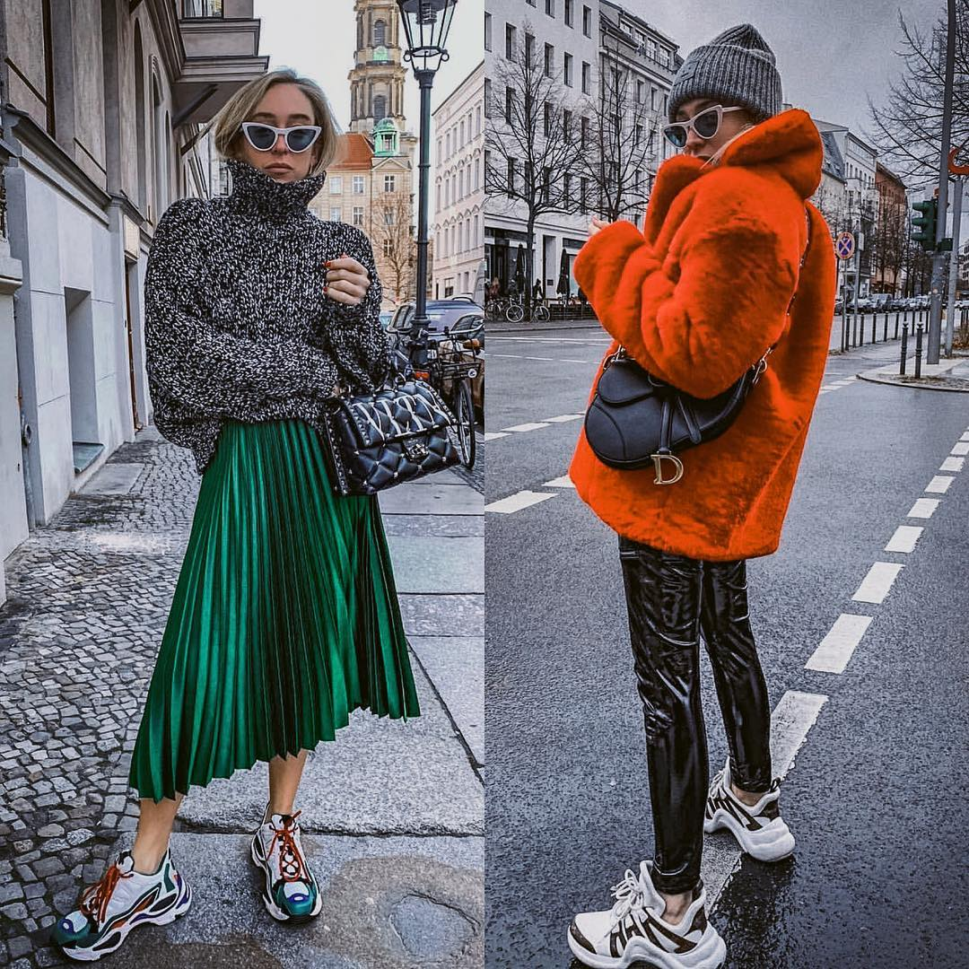 Bright Color Clothes And Multicolor Sneakers For Fall 2019