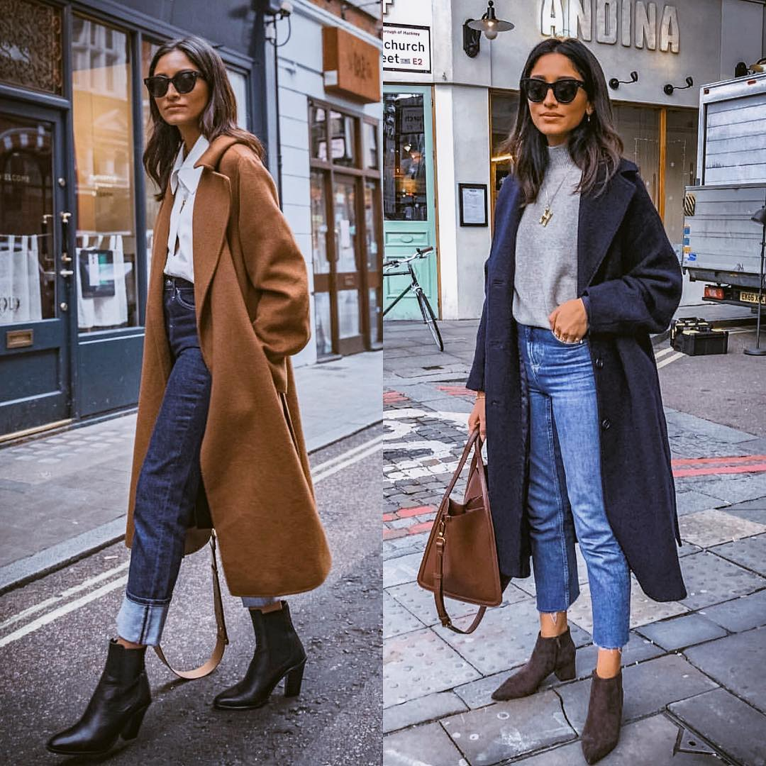Wool Long Coats For Fall: Street Style Inspiration 2019