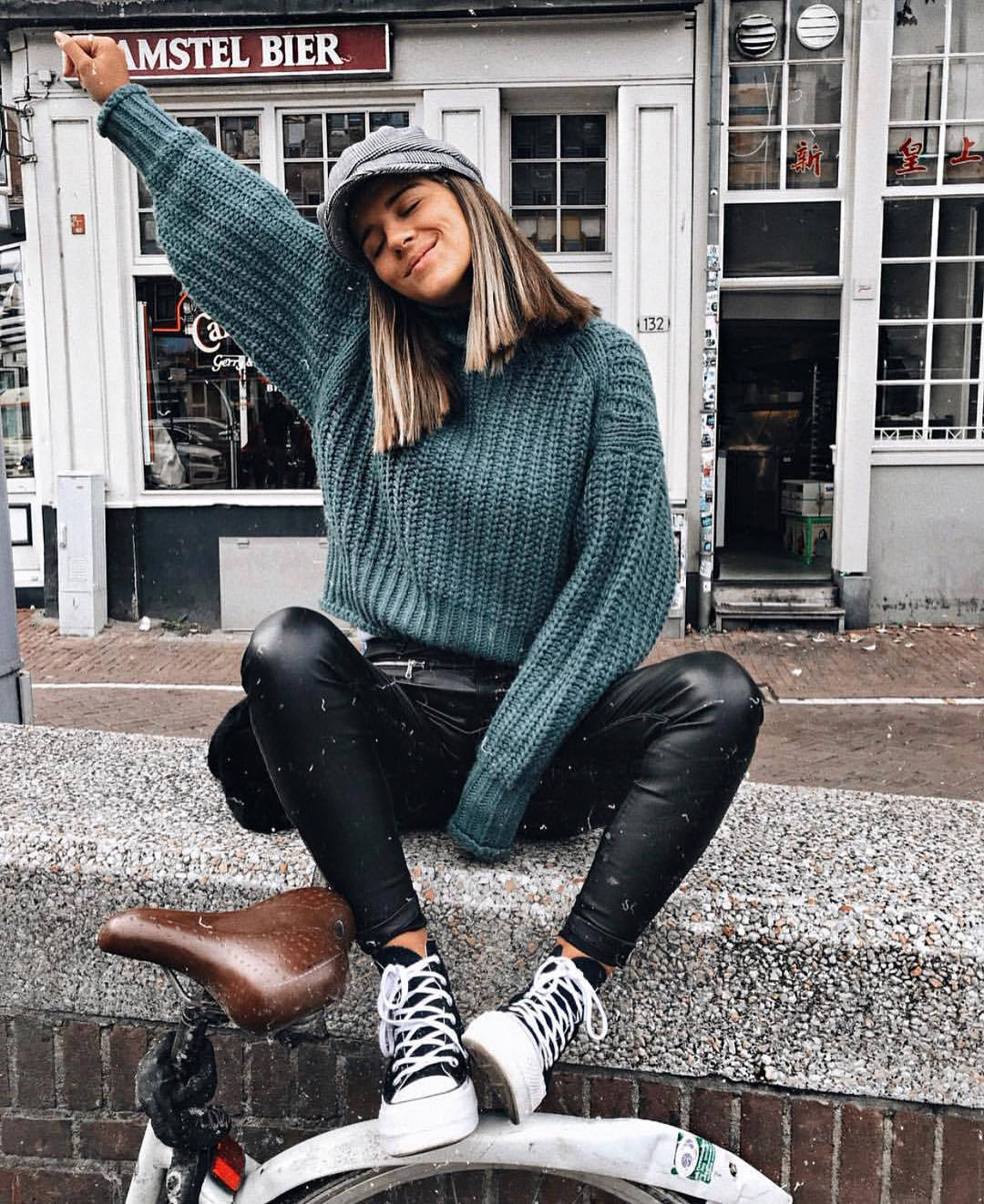 Hipster Basics For Fall: Oversized Knitwear, Denim And Chunky Kicks 2021