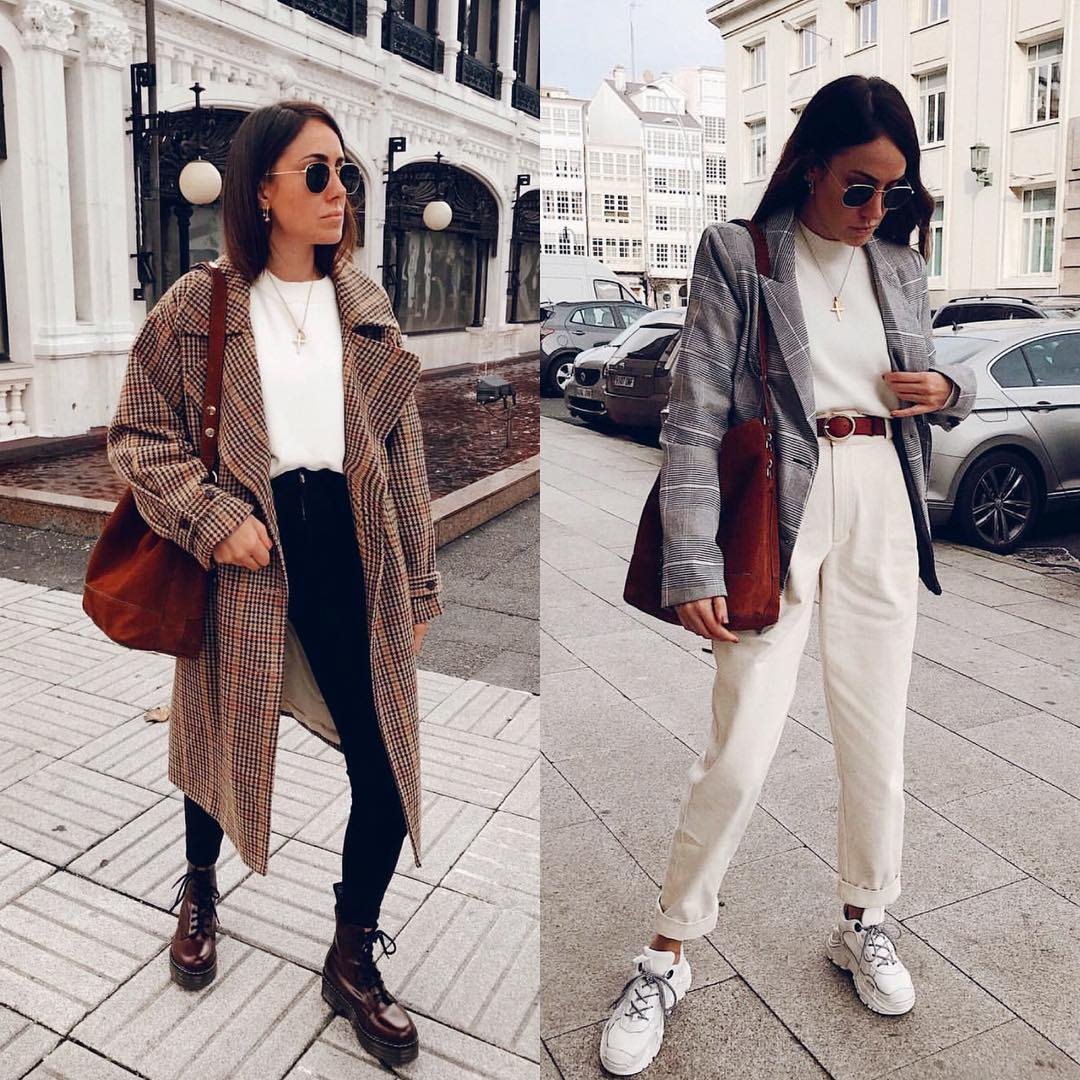 Best OOTD For September: Coat And Combat Boots Or Blazer And Kicks 2020