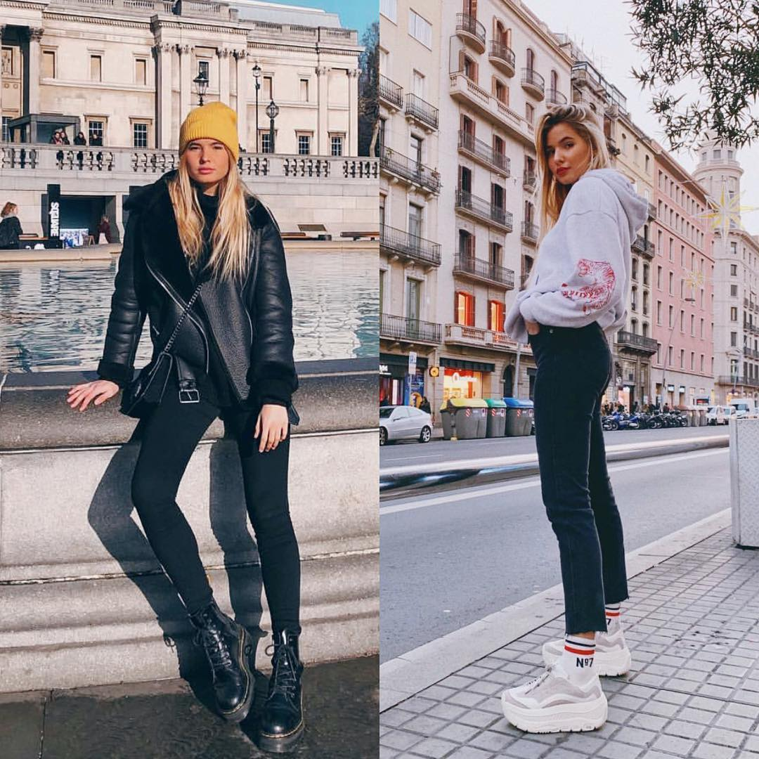 Fall Season Essentials: All Black Or Platform Sneakers 2019