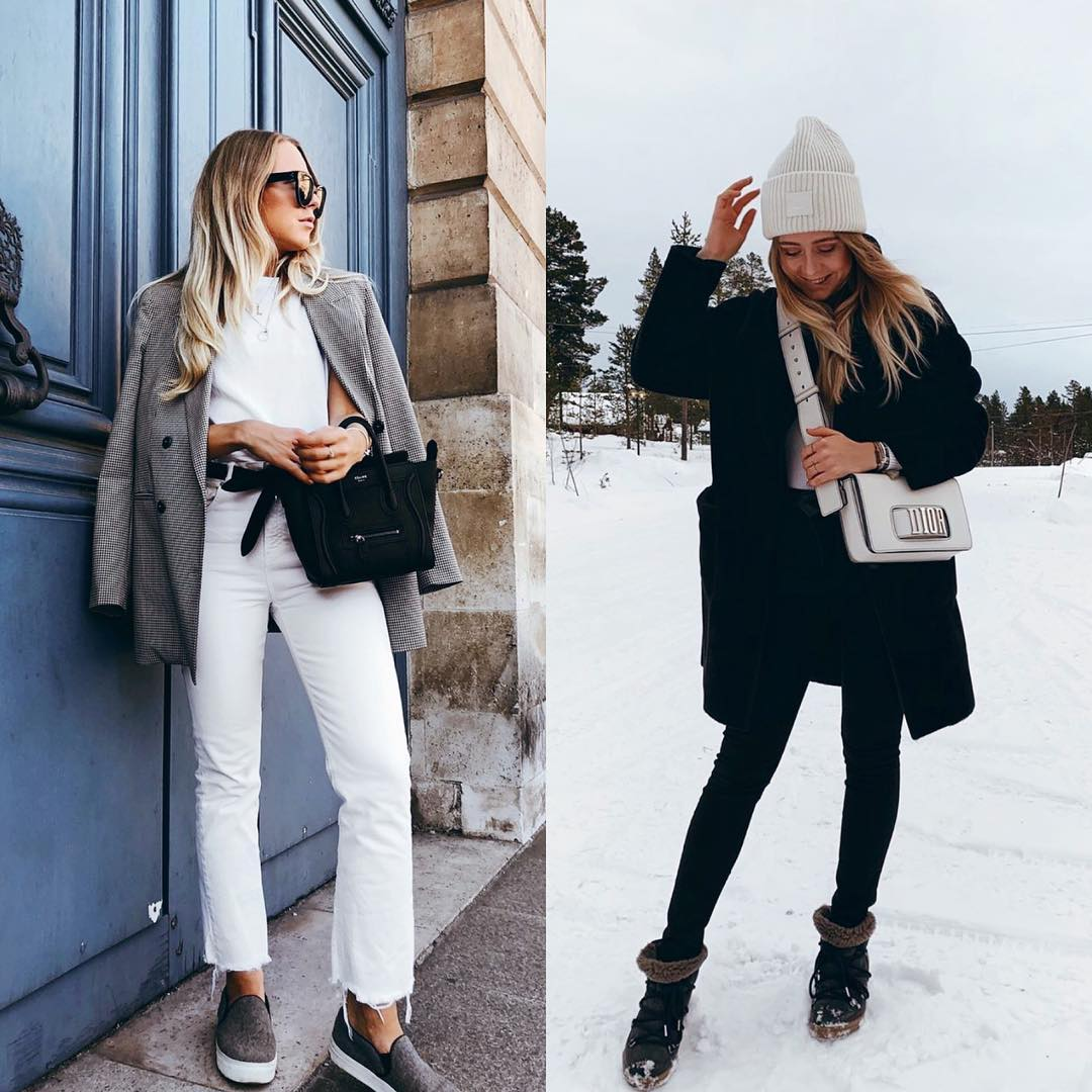 All White Look Versus All Black Outfit 2019