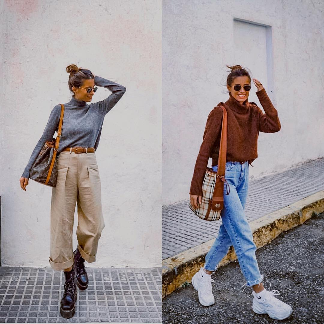 Sweater, Wide Pants And Chunky Footwear: Fall Essentials 2019