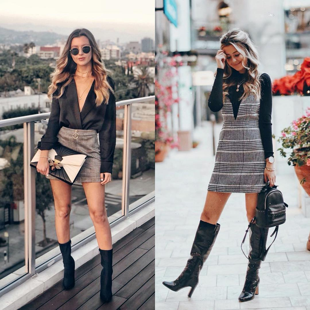 Should You Wear Plaid Skirt Or Plaid Dress This Fall 2020