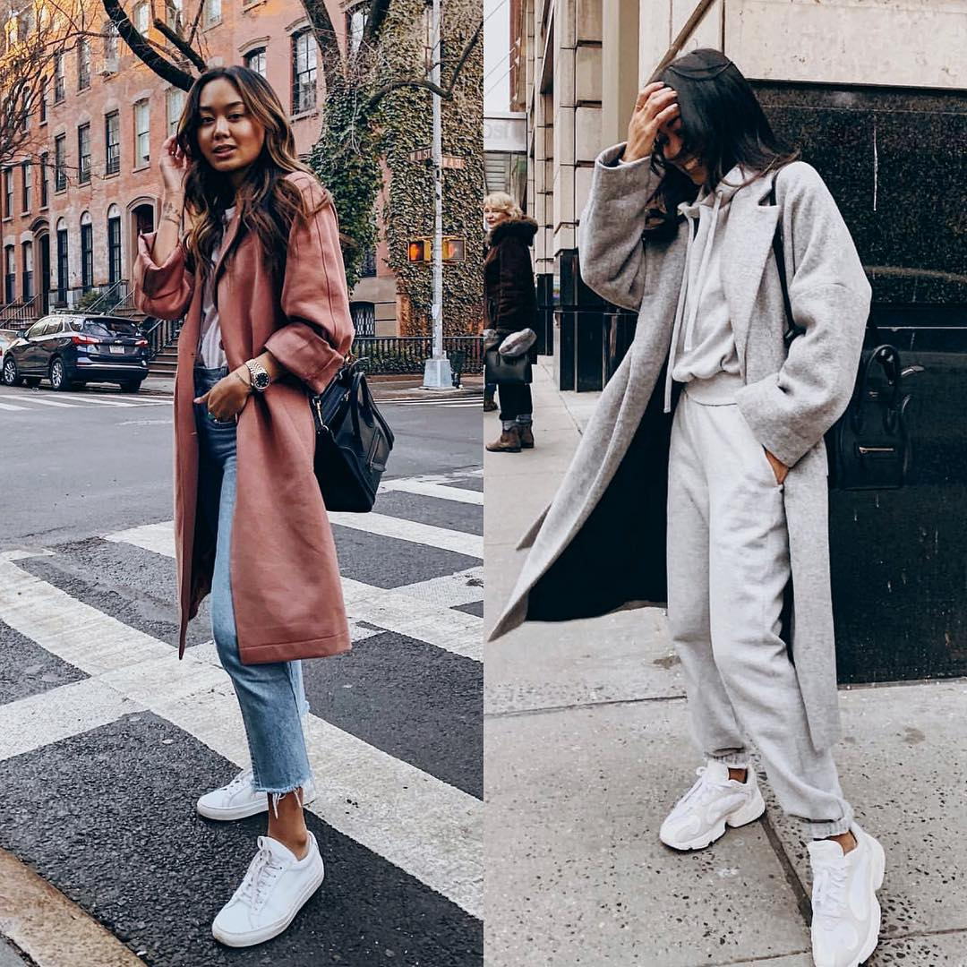 Pastel Maroon Coat Or Totally Monochrome Outfit In Grey 2020