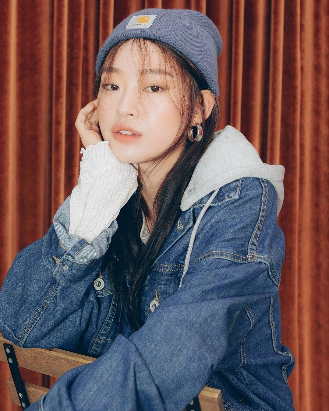 Grey Hoodie With Denim Jacket In Blue For Fall 2019