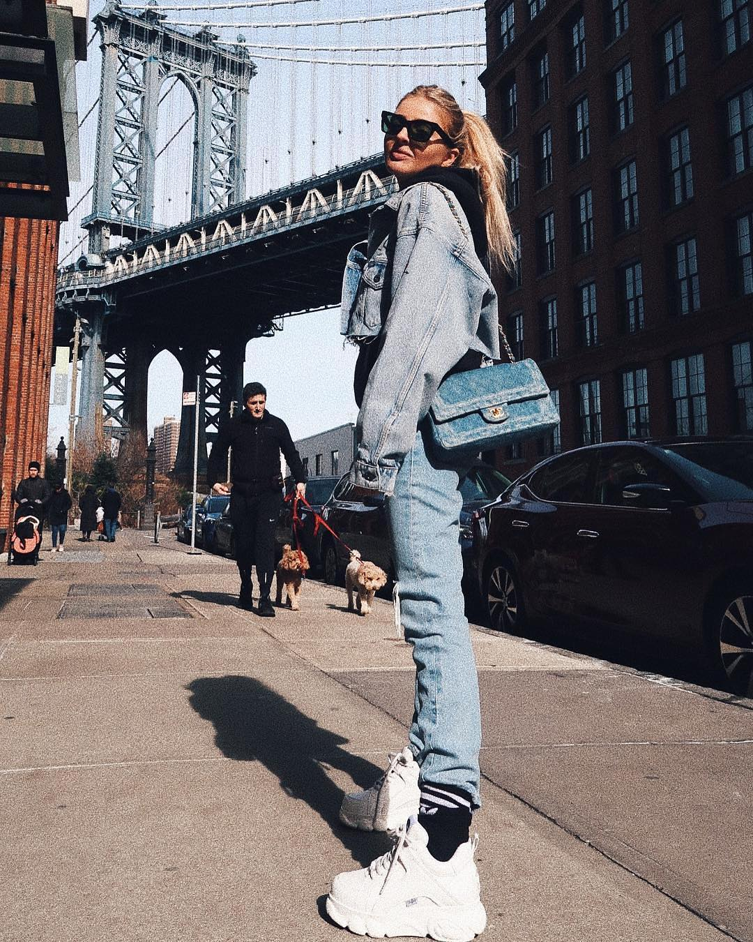 Double Denim Look: New York Spring Style 2019