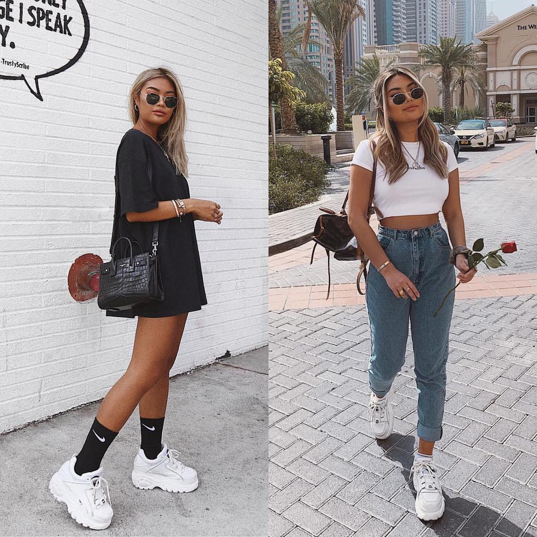 Sporty Casual Outfit Ideas With White Sneakers 2020