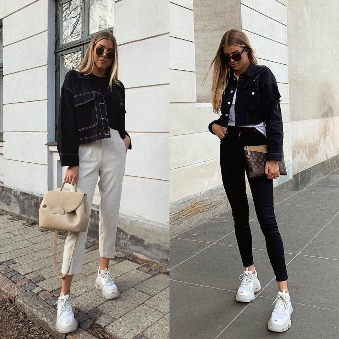 Can I Wear Chunky White Sneakers With Basic Jeans 2019