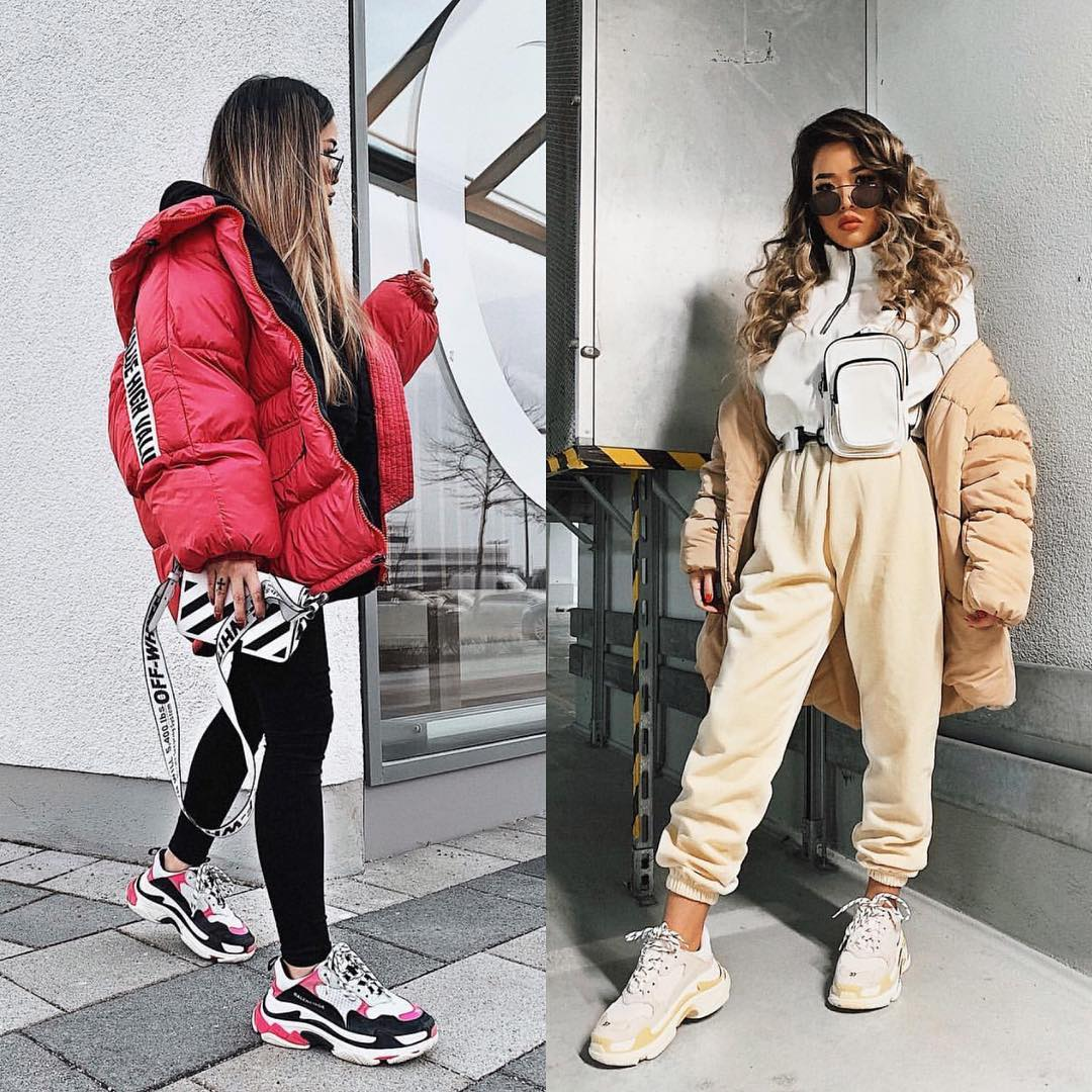 Oversized Puffer Jackets And Ugly Sneakers For Winter 2020