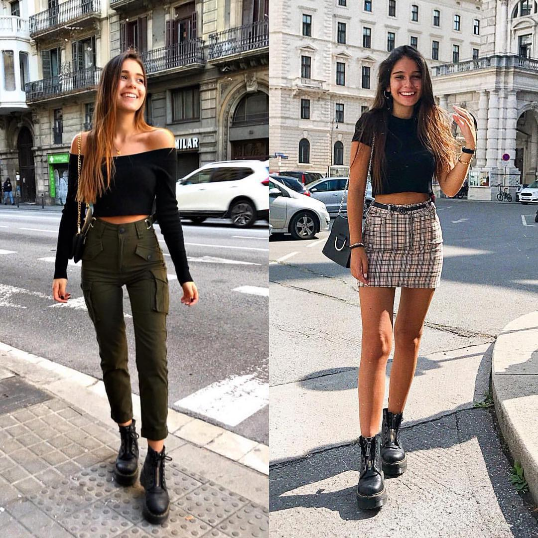 Cargo Pants Or Plaid Skirt For Street Walks This Summer 2019