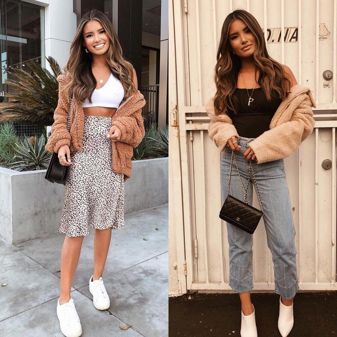 Boyfriend Jeans Or Leopard Print Skirt For Spring Season 2021