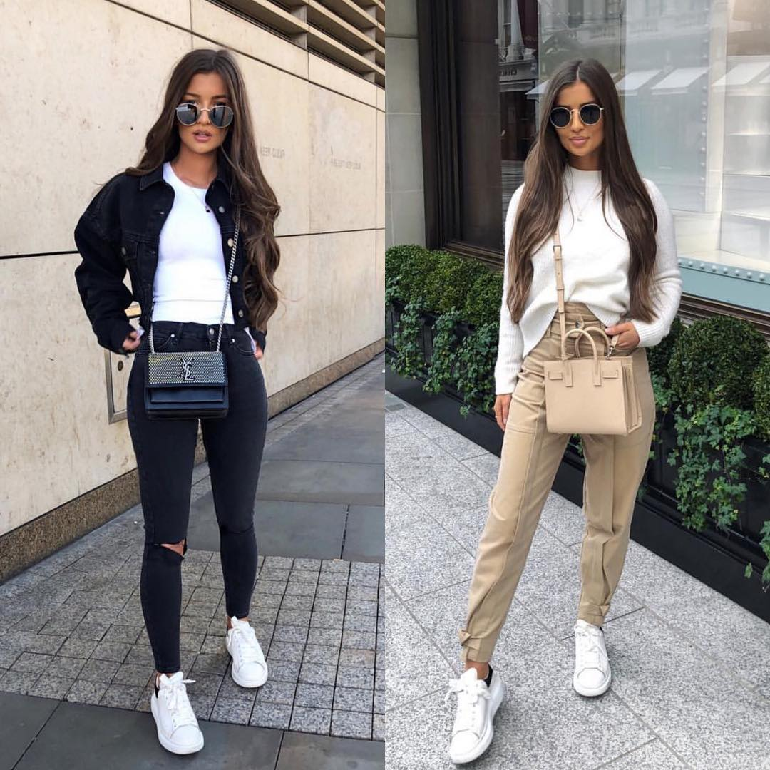 Best Ways To Wear White Sneakers During Street Walks This Spring 2019