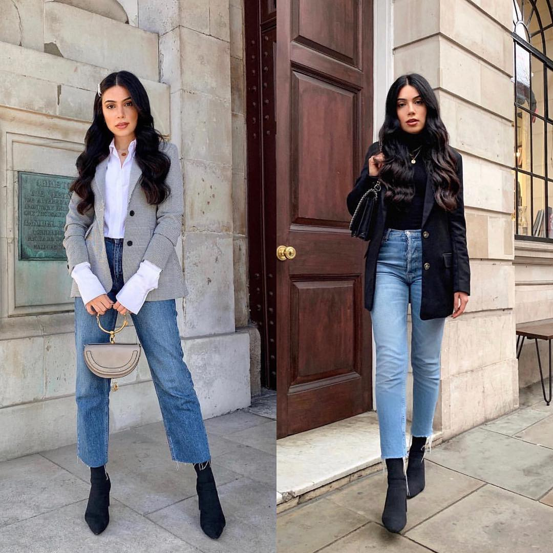 How To Wear Blazer With Jeans This Fall 2020