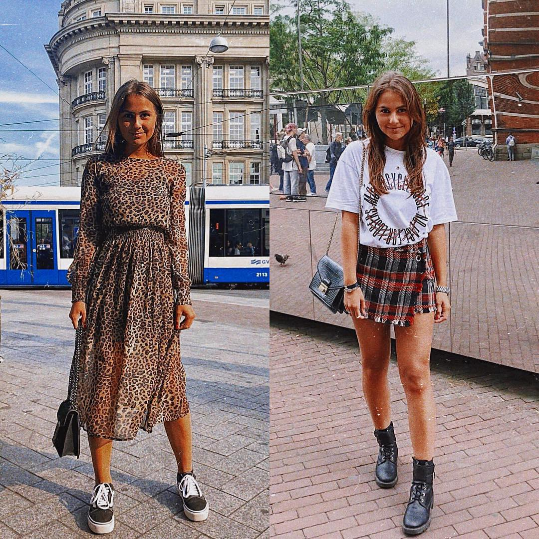 Tartan Mini Wrap Skirt Or Leopard Print Long Dress What Is Best